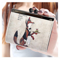 Winmax New arrival ladies clutch hasp oil cartoon printing women wallet coin purse money pocket Brand Design Women Female Wallet
