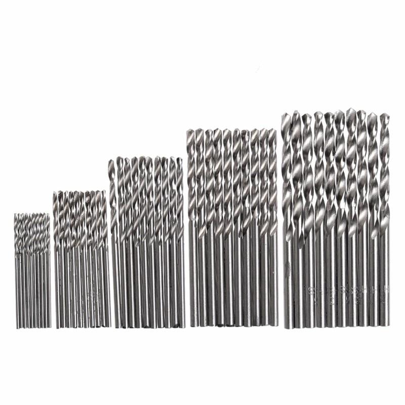 50 Pcs HSS 4241 Aco de Alta Velocidade Broca Tool Set 1/1. 5/2/2.5/3mm цена и фото