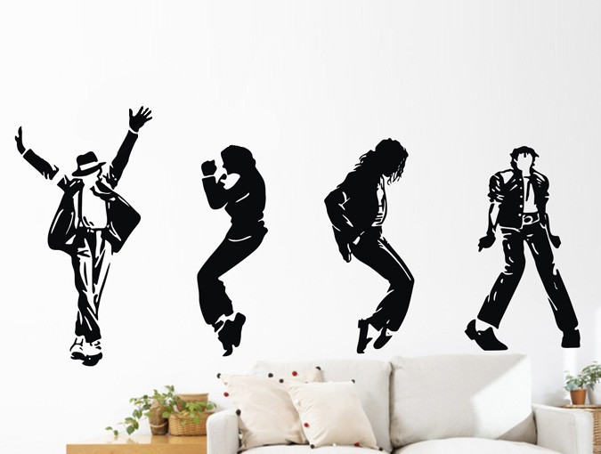 2015 New Limited Diy Michael Jackson Dance Moves Wall
