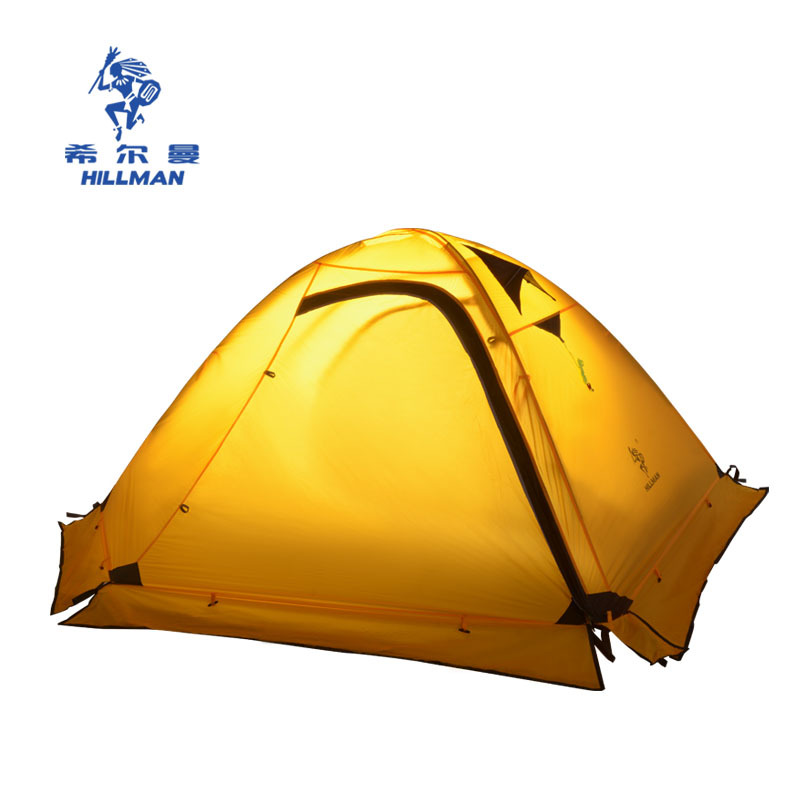 Hillman double decker outdoor tent mountaineering camping tent PLUS Hillman four seasons snow tent Auspicious clouds 2p xx035 high quality outdoor 2 person camping tent double layer aluminum rod ultralight tent with snow skirt oneroad windsnow 2 plus