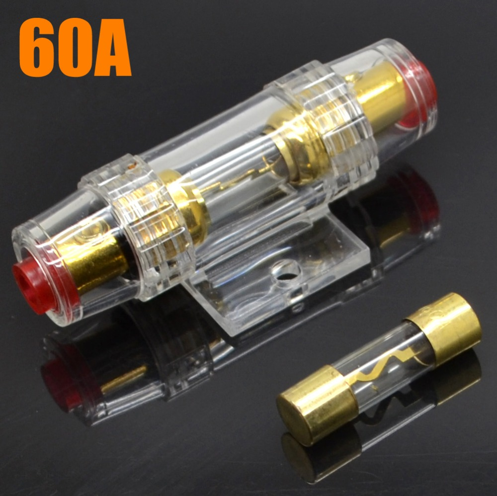 online buy whole fuse part from fuse part whole rs 10pcs lot new 60a car audio part transparent gold fuse holder fuse block shipping
