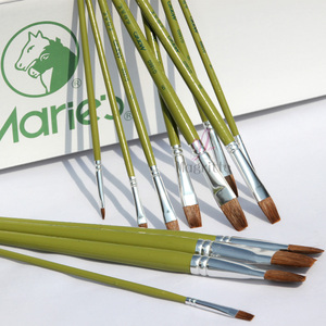 Image 3 - Watercolor Panting Brush Set Different Shape Round Pointed Tip Paint Brush Painting Tool Drawing Brushes Supplies G1860