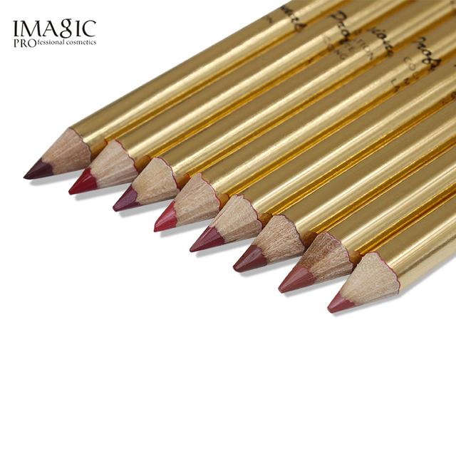 IMAGIC Lápiz Delineador de labios multifuncional profesional impermeable de larga duración