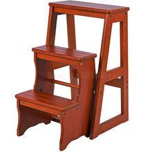 Бытовой многофункциональный складной стул-лестница импортная цельная деревянная лестница Крытая подъемная Лестница Стул стойка лестница