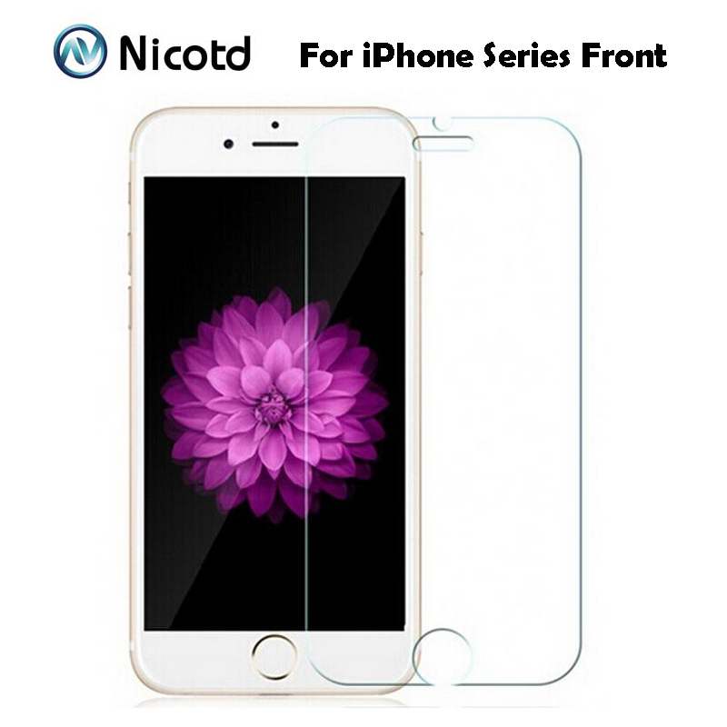 Nicotd 2.5D HD Tempered Glass For iPhone 7 Plus 6 6s Plus 5s 5 SE 4S 4 Anti-Shock Screen Protector Film For iPhone 8 Plus X