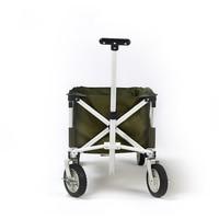 4 Wheels Outdoor Camp Cart Fold Portable Shopping Cart Baby Carriage Brand Green Camping Cart