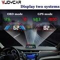 2 в 1 Hud OBD2 + GPS дисплей цифровой спидометр автомобильный скоростной проектор цифровой диагностический инструмент лобовое стекло проекция Huds