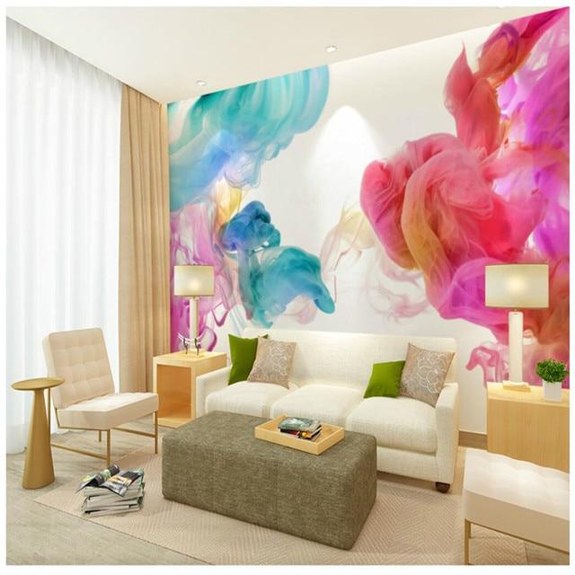 Wandtapete 3d wandkunst hintergrund fotografie Farbe linie haken ...