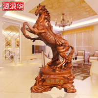 Super lucky wooden ornaments factory direct prancing resin crafts gifts Home Furnishing office furnishings