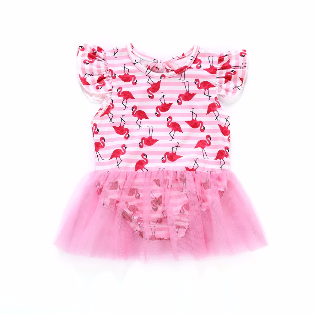 Newborn Baby Girl Romper 2018 Summer Infant Baby Girls Clothing Flamingo Jumpsuit Toddle kids babies Clothes