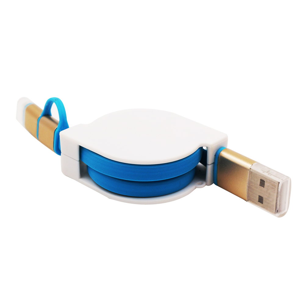 Retractable Design USB To 8pin Micro Usb Cable for iPhone 5 6 Plus Samsung S4 S6 Note 2 4 Sony Sky Blue vel vel 03 06 04 03800