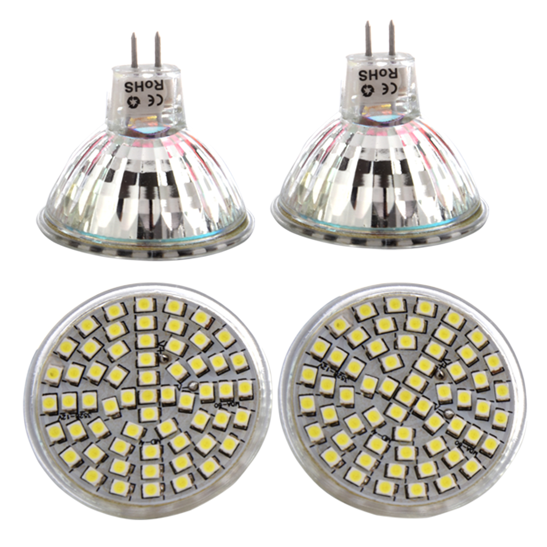 4x MR16 GU5.3 White 60 SMD 3528 LED Energy Saving Spotlight Light Lamp Bulb 12V led smart emergency lamp led bulb led e27 bulb lights light bulb energy saving 5w 7w 9w after power failure automatic lighting
