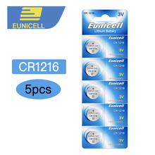 5pcs CR1216 ECR1216 DL1216 BR1216 LM1216 5034LC 1216 3V Li-ion Button Cell Battery Batteries for Watch Electronic Toy Remote