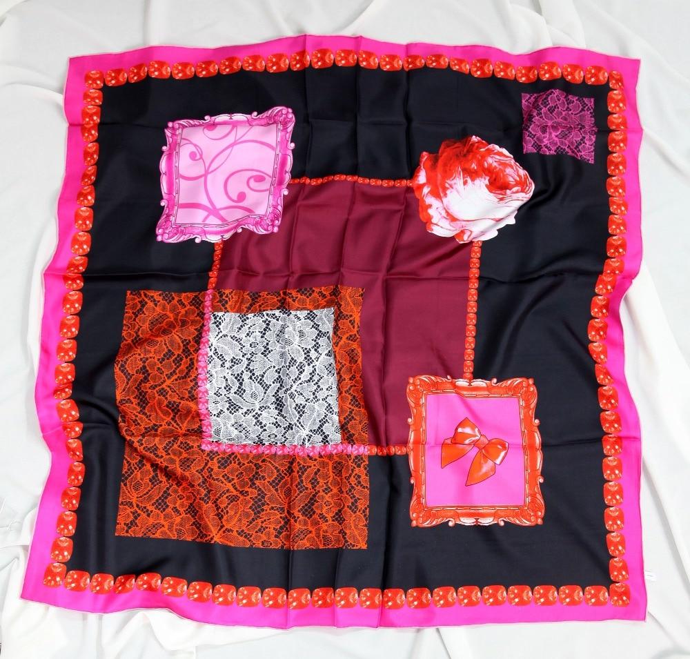 ELEGANT HANDMADE BRAND 100% Twill Silk  110cm Scarf