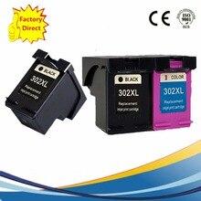 3 упак. картридж 302 XL 302XL для HP 302 HP 302XL Officejet 3830 4650 3834 4652 4655 зависть 4516 4520 4522 4523 4524 принтера