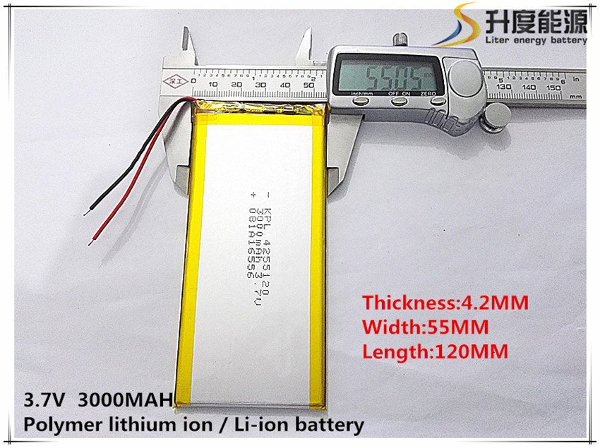 best battery brand Free shipping 3.7 V lithium polymer battery 3000 mah ultra-thin high- ...