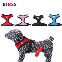 Bernapas Lembut Dog Harness Cat Control Nylon Mesh Adjustable Vest harness leash untuk Pet puppy Dada Strap pet produk