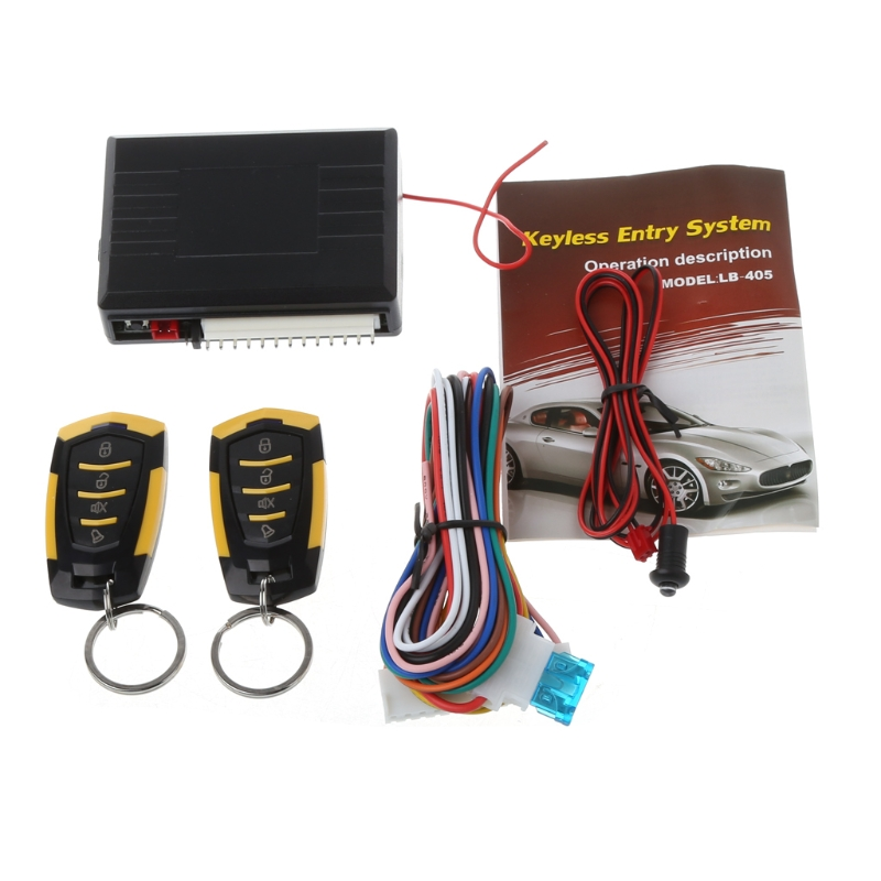 433MHz 12V Car Auto Alarm Remote Central Door Locking Vehicle Keyless Entry System Kit