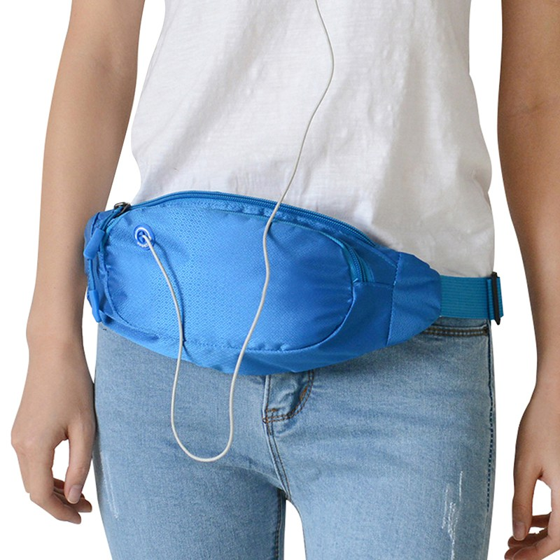 Outdoor Running Bag Waterproof Sports Chest Shoulder Bags Belt Bum Pouch Unisex Waistbag Hiking Zip Bag Fanny Pack 9 Colors