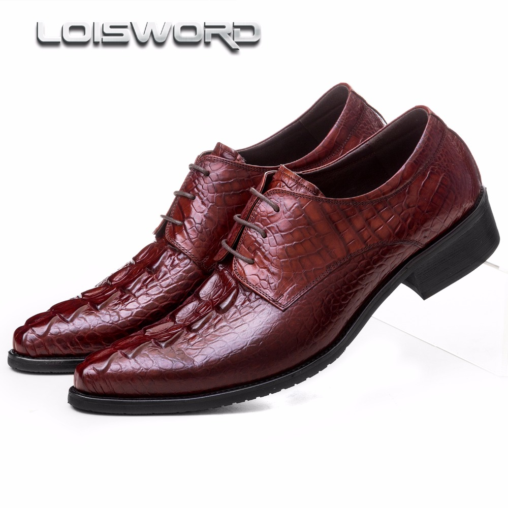 LOISWORD Crocodile grain Black / brown tan mens dress shoes genuine leather wedding shoes mens business shoes loisword crocodile grain black brown tan mens dress shoes genuine leather wedding shoes mens business shoes