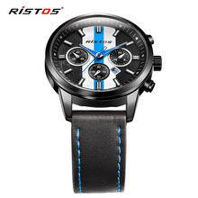 LONGBO Luxury Leather Strap Brand Watches Sports Men Water Resistant Business Watch Male Easy Read Auto Date Wristwatches 93018