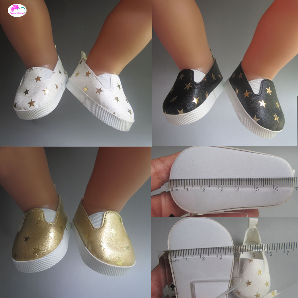Fashion white sports boots shoes for dolls fits 43 cm Zapf dolls baby born and 18 American Girl