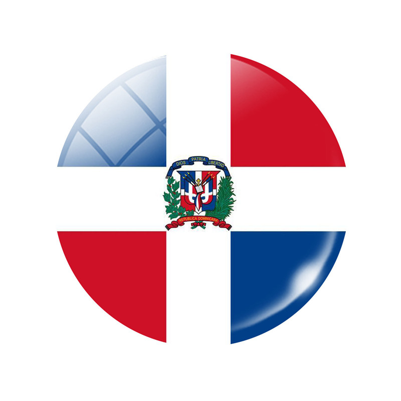 The Dominican Republic National Country Flag Kitchen Refrigerator Button Magnet