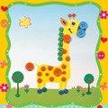 2 unids/lote niños juguetes creativos DIY botón pintura juguetes niños pegatinas hechas a mano juguetes para niños pegatinas juguetes educativos para niños