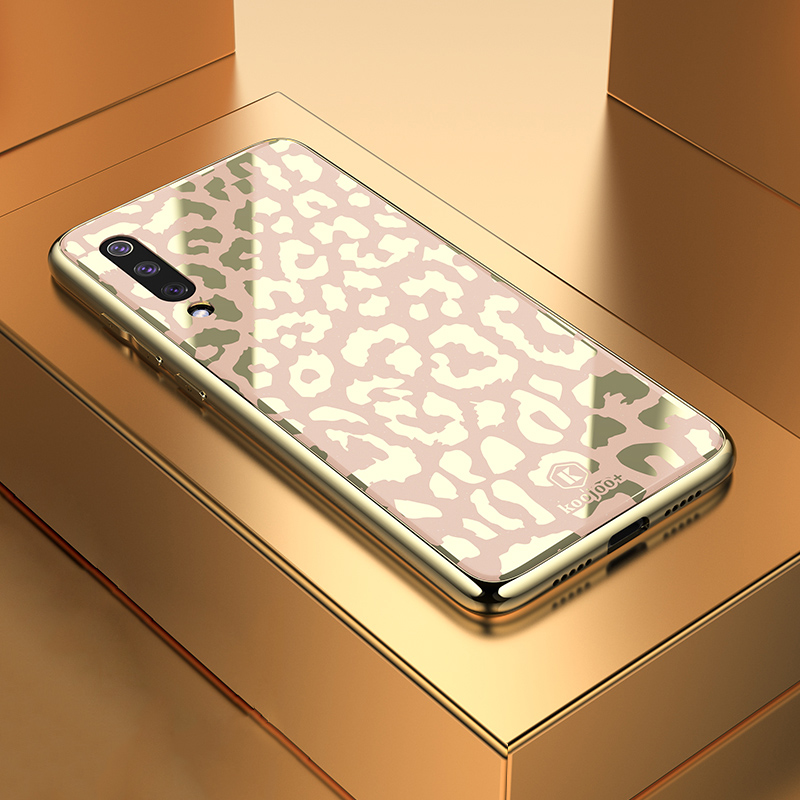 Phone Case for Xiaomi Mi 9 Se 8 8Lite Explorer Cover Shining Glitter Leopard Spot Soft TPU Silicon Frame Case for Mi 8 9Se Cover