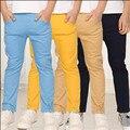 Calças médio-grande criança do sexo masculino 2016 das crianças roupa masculina criança calças primavera e calças de verão fina 100% algodão casuais