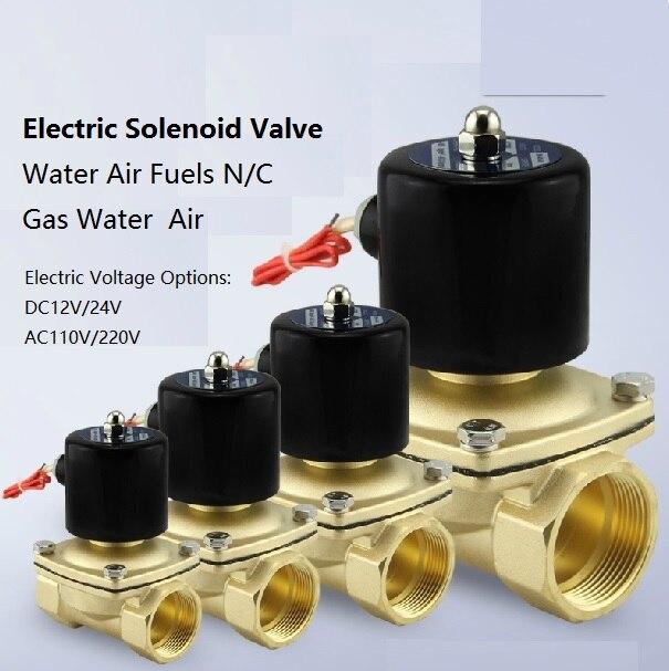 Électrovanne en laiton électrique utilisée avec des pipelines dans les applications de l'air de l'eau et du diesel