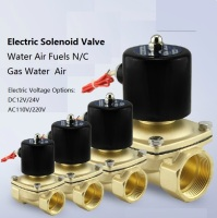 Electric Brass Solenoid Valve use with pipelines in water air and diesel applications