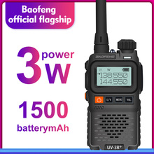Baofeng UV 3R + Mini Radio Kid Walkie Talkie UV 3R Dual Band VHF UHF Draagbare Twee Manier Radio Ham Hf Transceiver UV 3R Woki Toki