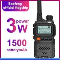 מכשיר הקשר dual band Baofeng UV-3R + מיני רדיו קיד מכשיר הקשר UV-3R Dual Band VHF UHF Portable שני הדרך רדיו Ham Hf משדר UV 3R Woki טוקי (1)