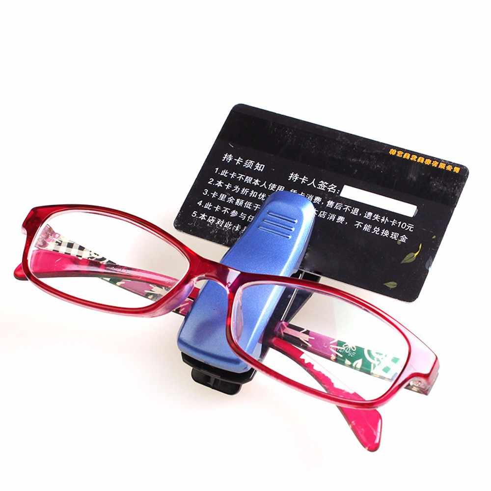 1pcs Car Sun Visor Glasses Sunglasses Ticket Receipt Card Clip Storage Holder Adjusts Eyeglasses Securely Drop ship #T