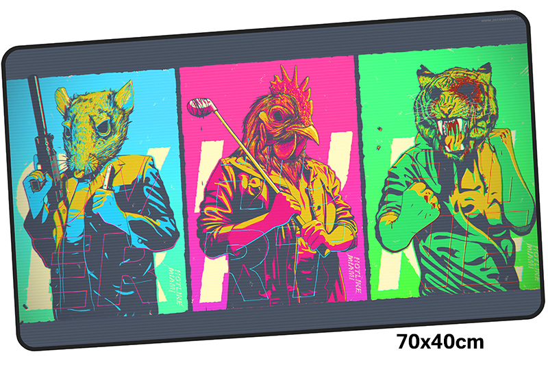 hotline miami mousepad gamer 700x400X3MM gaming mouse pad large cool new notebook pc accessories laptop padmouse ergonomic mat