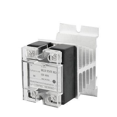 AC to Solid State Relay SSR 40A 150-350V/24-480V SSR-40AA + Heat Sin