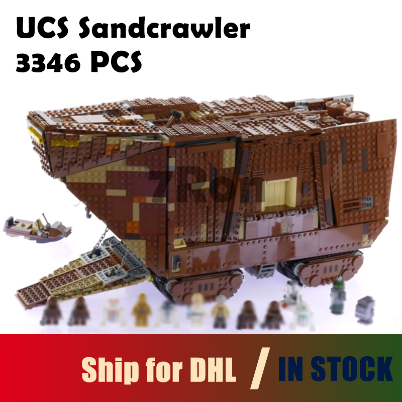 Compatible with lego 75059 Brick 05038 3346Pcs Star Series Wars Force Awakens Sandcrawler Model Building toys hobbies Kit Blocks lepin 05038 star wars episode iv sandcrawler similar with 75059 buliding kit