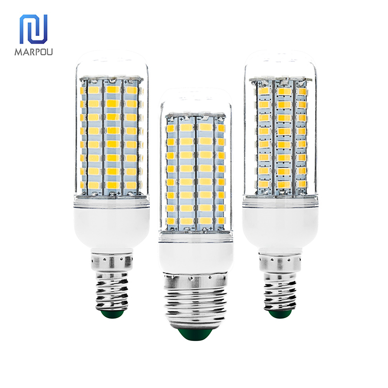 LED Bulb E27 E14 30 36 56 72 89LEDs LED Corn Light 220V SMD5730 Lampada Energy Saving LED Spotlight For Living Room Chandelier