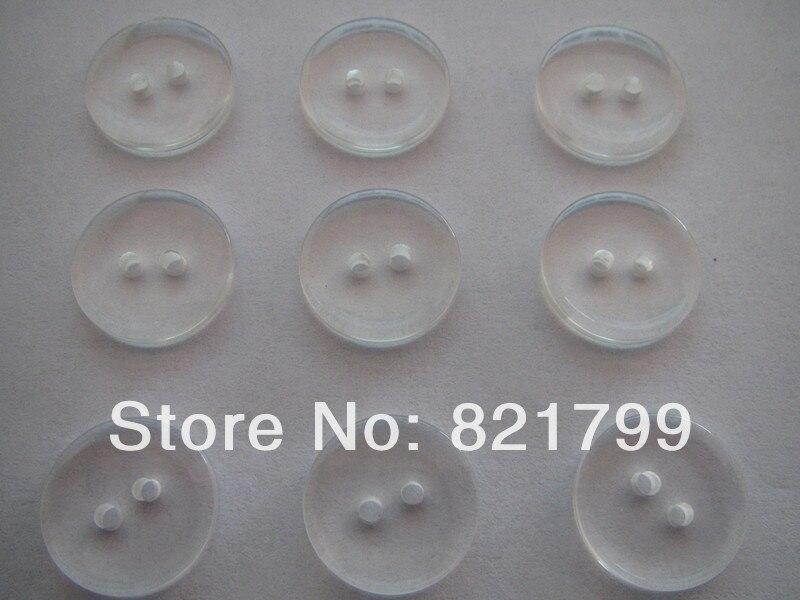 12L 2 holes resin button clear color off white color transparent 500pcs 53386e8dffa9