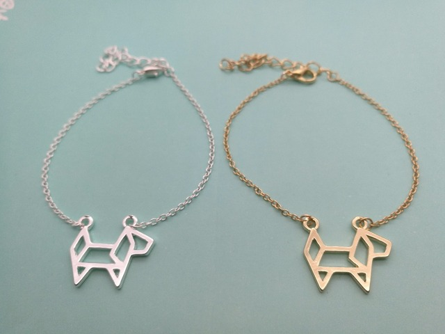 30pcs Origami Paper Pet Dog Bracelet Outline Lovely Puppy Cute Decoupage Animal Bracelets For Las