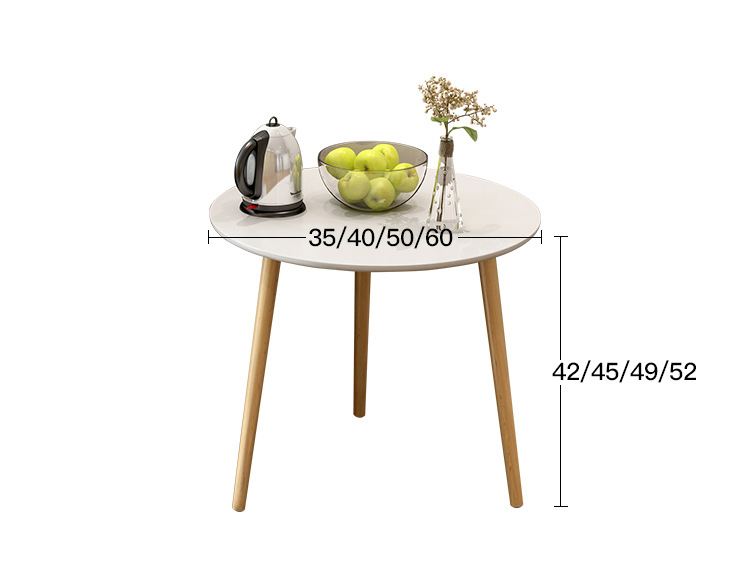 Eco-friendly Round Wooded Coffee Table Living room tea tables end table Bed small side table solid pine wood folding round table 90cm natural cherry finish living room furniture modern large low round coffee table design