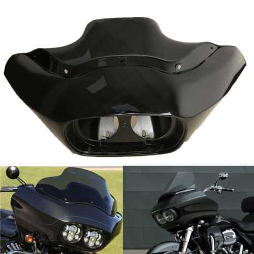 Motorcycle Unpainted ABS Headlight Inner Outer Fairing For Harley Road Glide FLTR 1998 2013