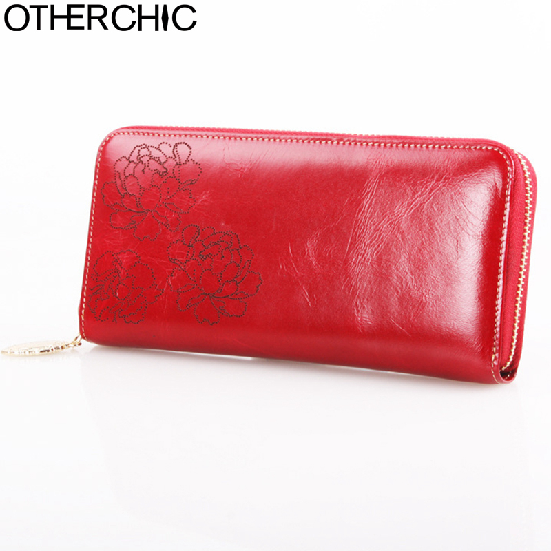OTHERCHIC Wallet Genuine Leather Women Leather Wallet Women Wallets Coin Purse Card Holder Portefeuille Femme Purses 17Y02-18 xiniu ladies wallets and purses zipper coin purse cute portab bag portefeuille femme pyyw