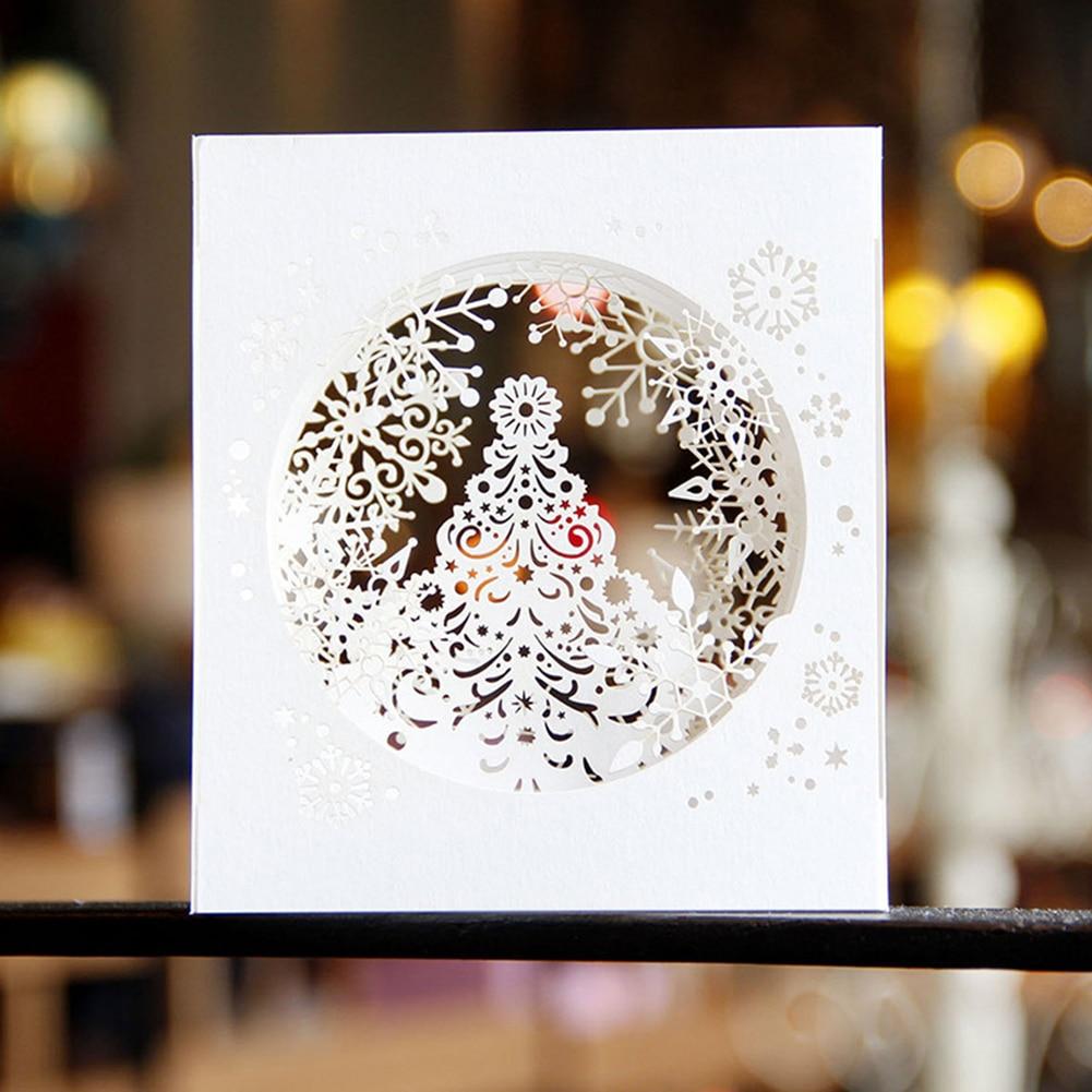 feliz navidad copo de nieve d tarjetas popup laser cut tarjetas postales tarjetas de