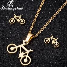 0080b904d025 Shuangshuo Punk de moda de acero inoxidable bicicleta encanto Collar mujer  bicicleta collares de cadena de joyería de Navidad to.