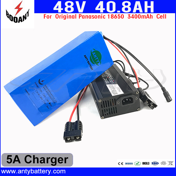 Lithium Electric Bike Battery 48V 40Ah For Original 18650 Cell For Bafang Motor 1800W With 54.6V 5A Charger Free Shipping us eu free customs duty lithium 48v 1000w e bike battery 48v 17ah for original panasonic 18650 cell with 5a charger 30a bms
