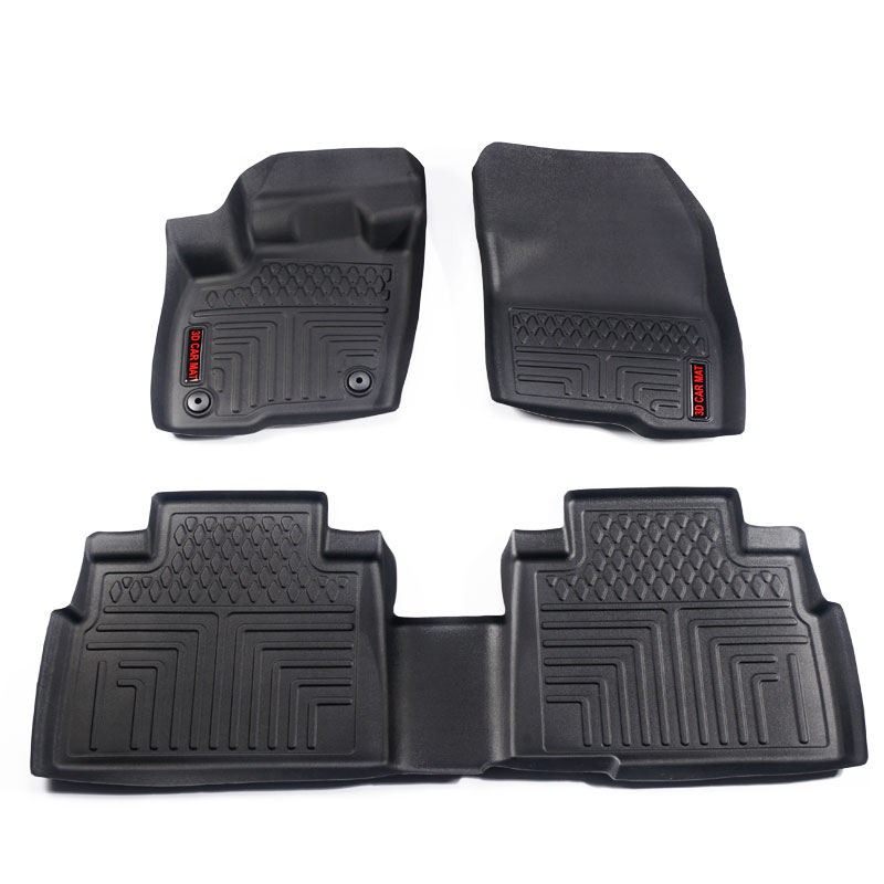 Floor Mats Compatible for 2016 2019 FORD EDGE Front and Rear 2 Rows All Weather Heavy Duty Rubber Car Floor Liners