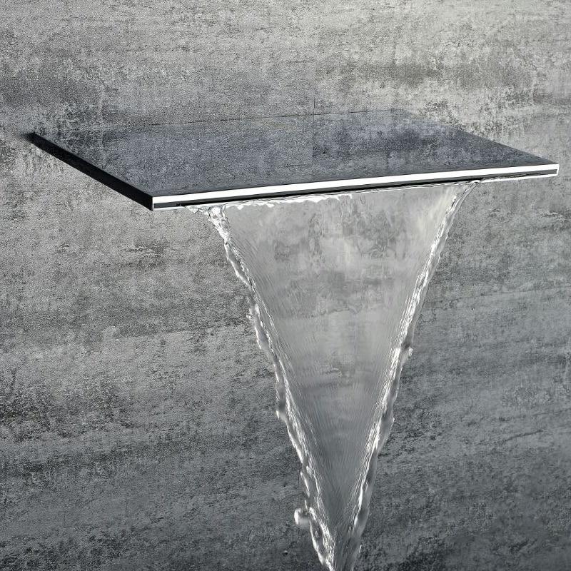 ᐂBrass Thicker Waterfall Bathroom Shower Head 8 Inch* 12 Inch ...