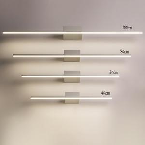 Image 3 - NEO Gleam Đen/Trắng 0.4 1.2 M Hiện Đại Đèn Gương Chống sương mù DẪN đèn Phòng Tắm bàn trang điểm/nhà vệ sinh/phòng tắm đèn gương